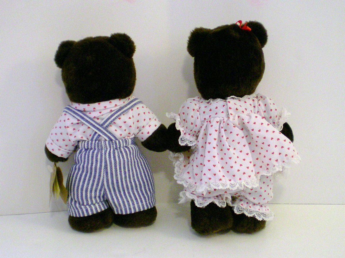 Image 3 of Robert Raikes Bear April and Johnny in Balloon Valentine's Day Ed 1994