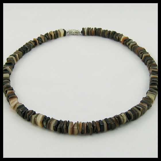 puka shell necklace for