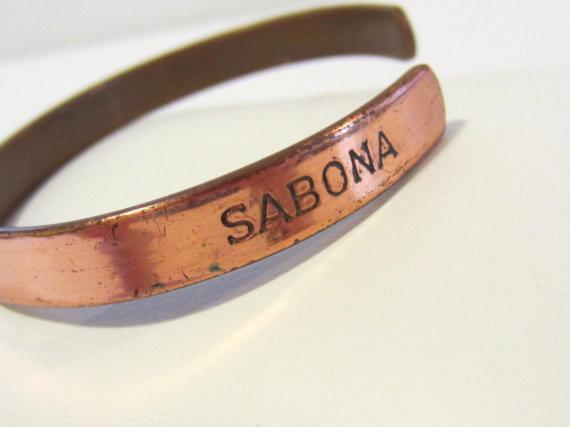 Vintage SABONA LONDON copper cuff bracelet and 28 similar ...