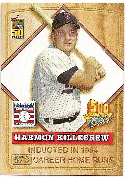 Harmon Killebrew 2001 Collectors Series 500 Club Baseball