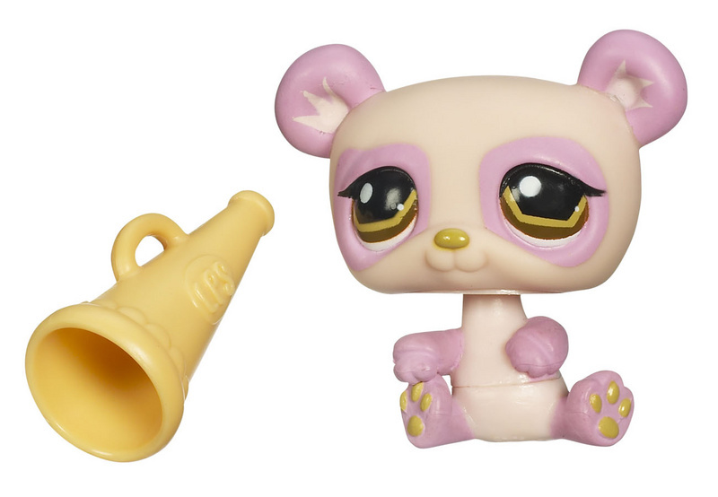 Littlest Pet Shop Panda 899 Funniest megaphone brown eyes 2008 release