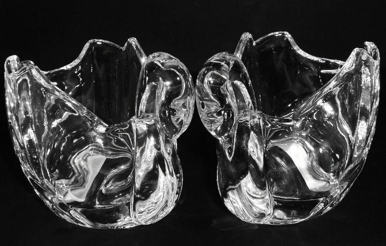Crystal Swan Votives Shannon by Godinger Set of 2