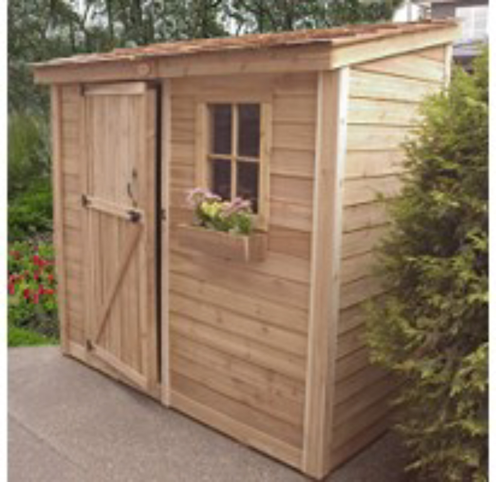 Space Saver Storage Shed 8 39 X 4 39 Outdoor Storage Shed Wood Shed Too