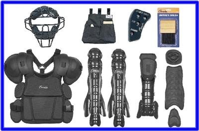 Baseball Umpire Leg Guard Chest Protector Face Mask Set