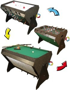 FOOSBALL AIR HOCKEY BILLIARD POOL BALL GAME ROOM TABLE