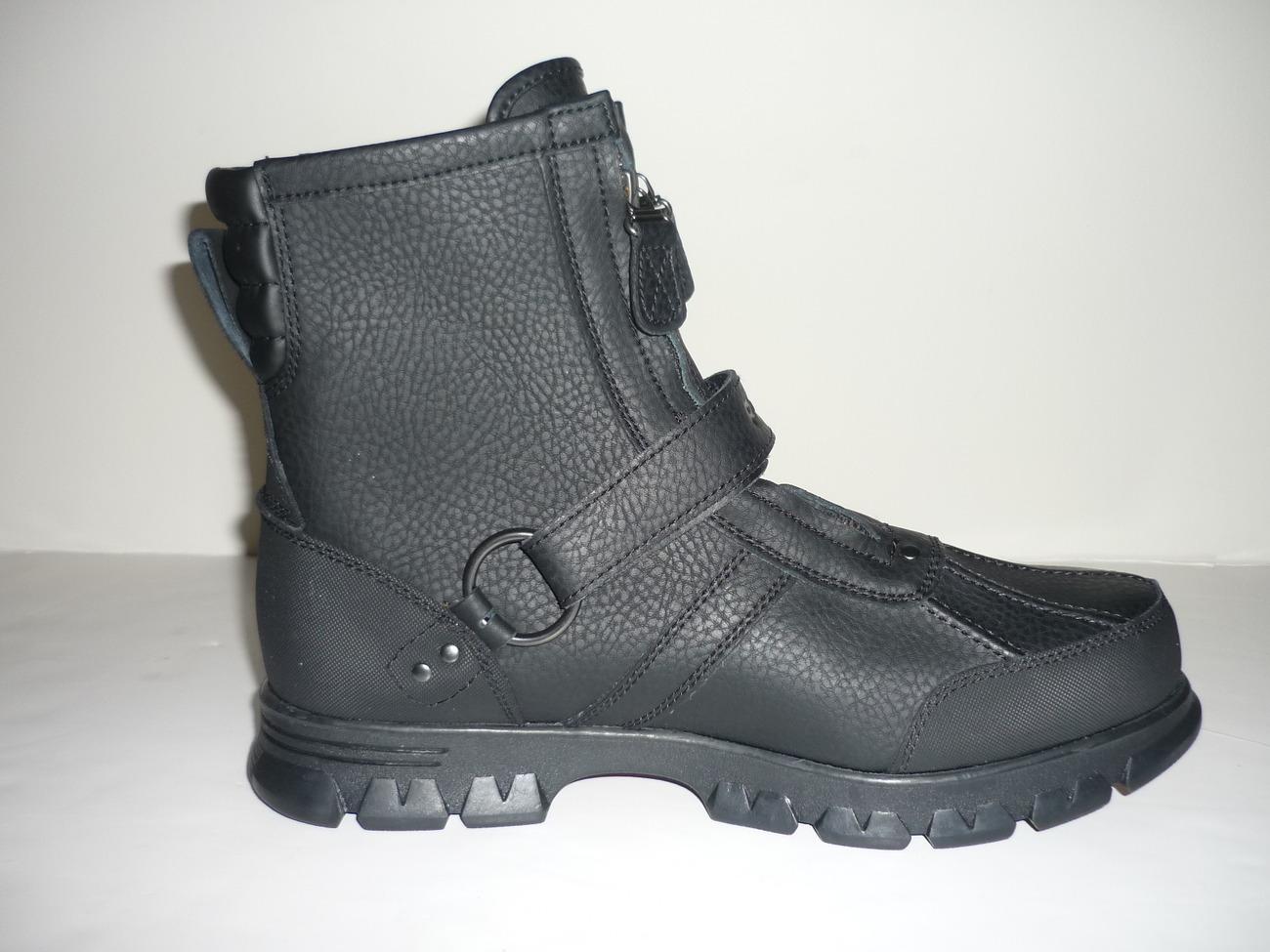 polo ralph s conquest 2 hi boot black
