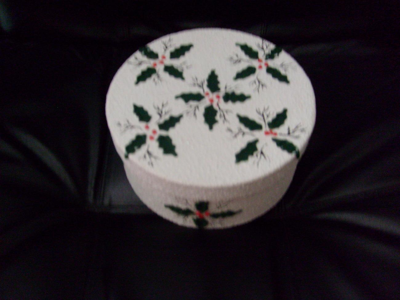 Christmas Holly Decorative Box