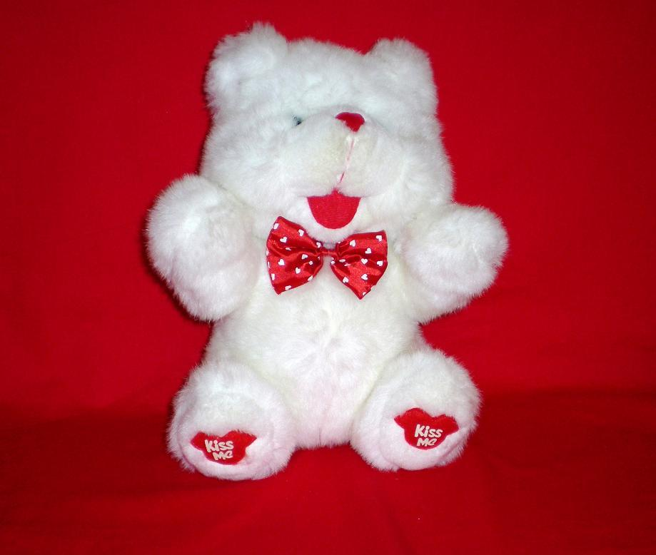 Blushing Bear Valentine's Day Teddy Bear QVC 1993