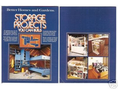 Better Homes Gardens Storage Projects You Can Build Nonfiction