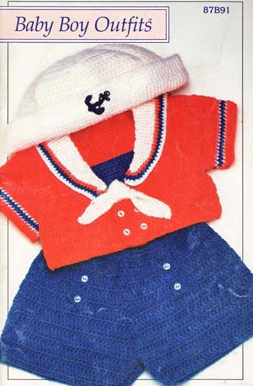Free Crochet Patterns For Newborn Baby Boy Booties : Baby Boy Outfits Crochet Patterns Book Infants Clothing ...