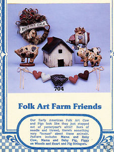 FOLK ART FARM FRIENDS CRAFTS SEWING BUTTERMILK CREEK