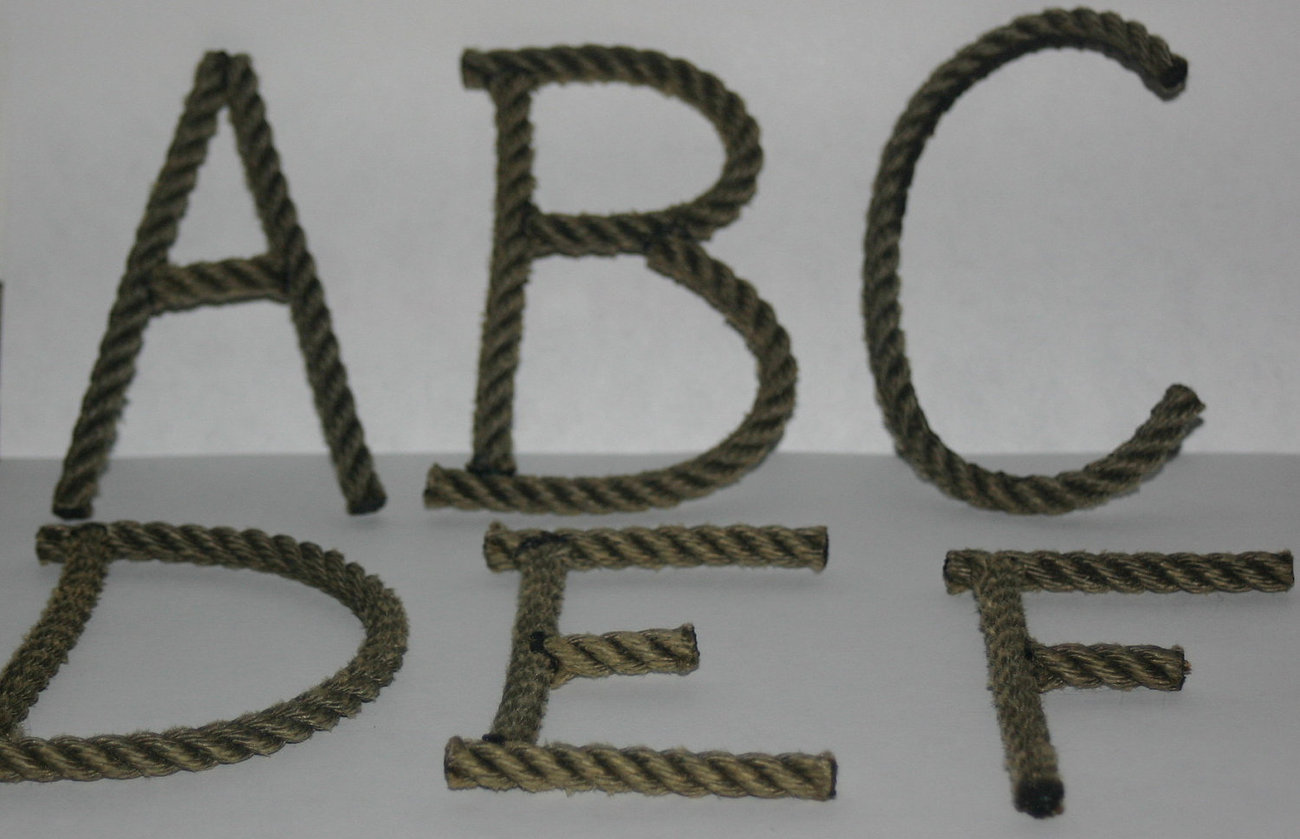 alphabet letters rope letters made to order and 50 similar items