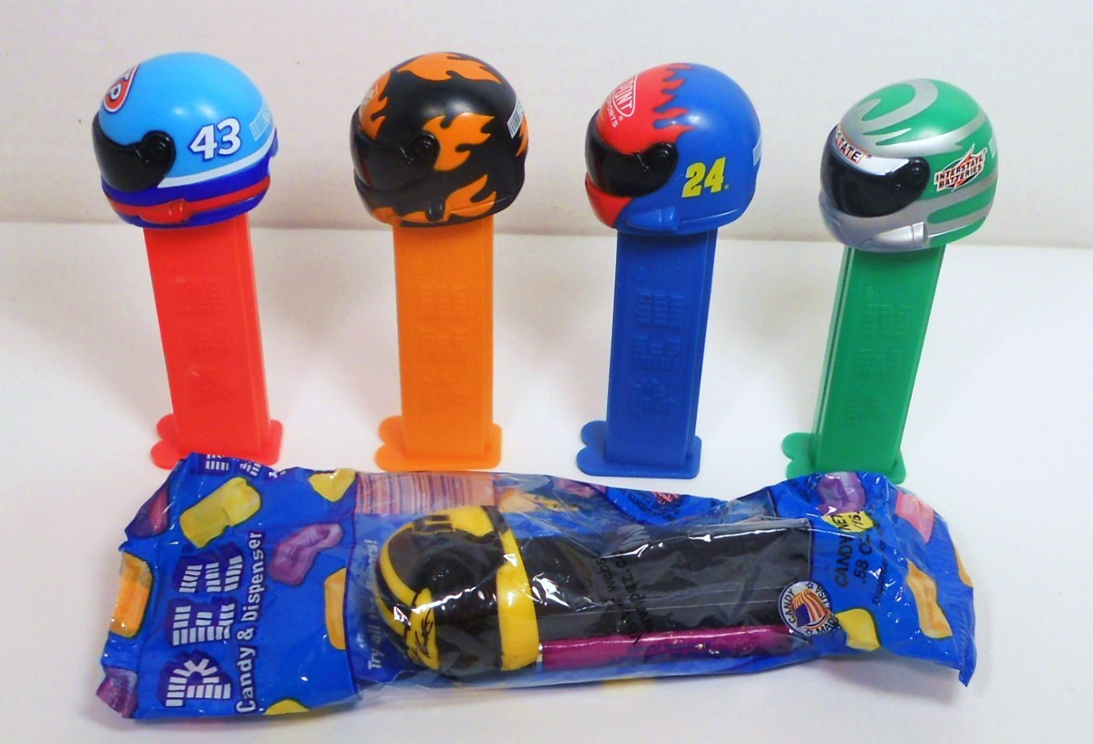 NASCAR Helmet Pez lot of 5 2005 No 43, 17, 24, Dupont, Interstate Battery