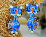 Chinese_cat_earrings_dangles_blue_enameled_cloisonne_thumb155_crop