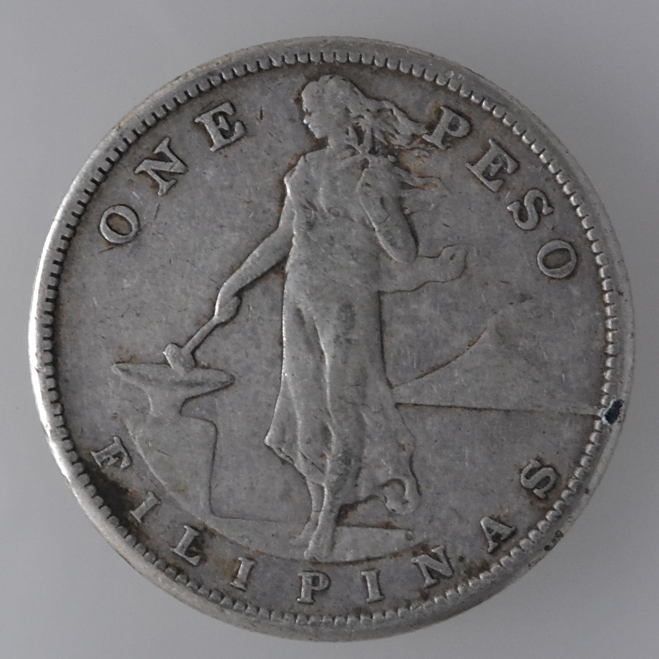 Coin Ph: U.S Philippines 1908s, One (1) Peso Silver Coin