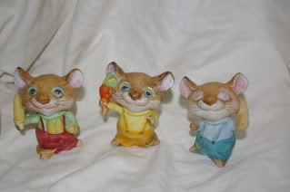Homco Mice Figurines 5601 Retired Home Interiors Figurines