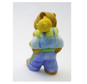 Image 1 of Bronson Figurine Bear Papa Bill and Billy by Katharine Stevenson