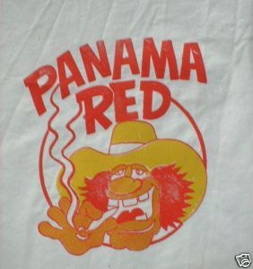 Vintage 1970s Drug Iron-on T-Shirt Transfer- Panama Red
