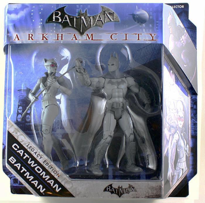 DC Universe Batman Catwoman Legacy Edition Black white gray set