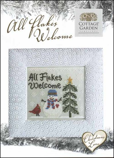 Christmas Love All Flakes Welcome Cross Stitch Chart