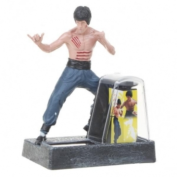 New-Solar Powered Bruce Lee Enter the Dragon Action Display Figure Toy