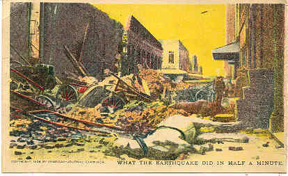 a look at earthquake and its destruction Seismo blog today in earthquake history:  a fault line, more than 600 miles long ruptured and left devastation, destruction and a giant tsunami in its wake.
