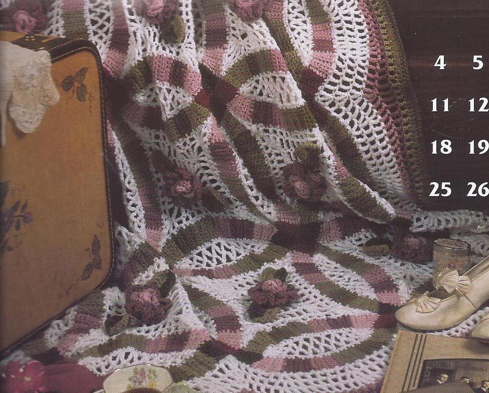 Crochet Afghan Patterns Quilt : Annies Award Winning Quilt & Afghan Crochet Patterns~12 ...