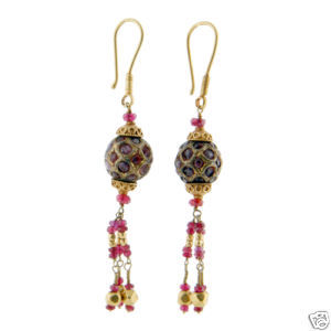TIMELESS PIECES presents antique ruby + gold earrings