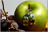 EYE CANDY by TIMELESS PIECES : Topaz + Lemon earrings