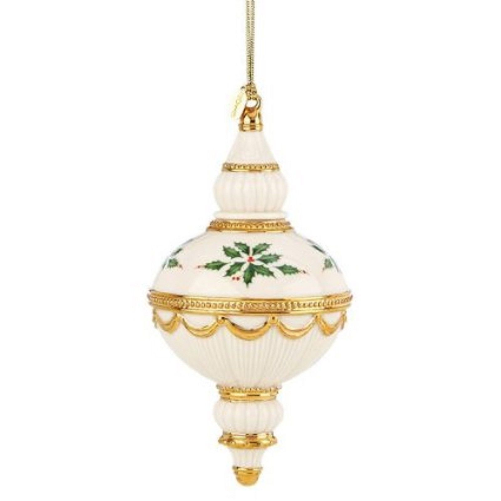 Lenox Christmas 2013 Annual Holiday Spire Ornament Holly ...