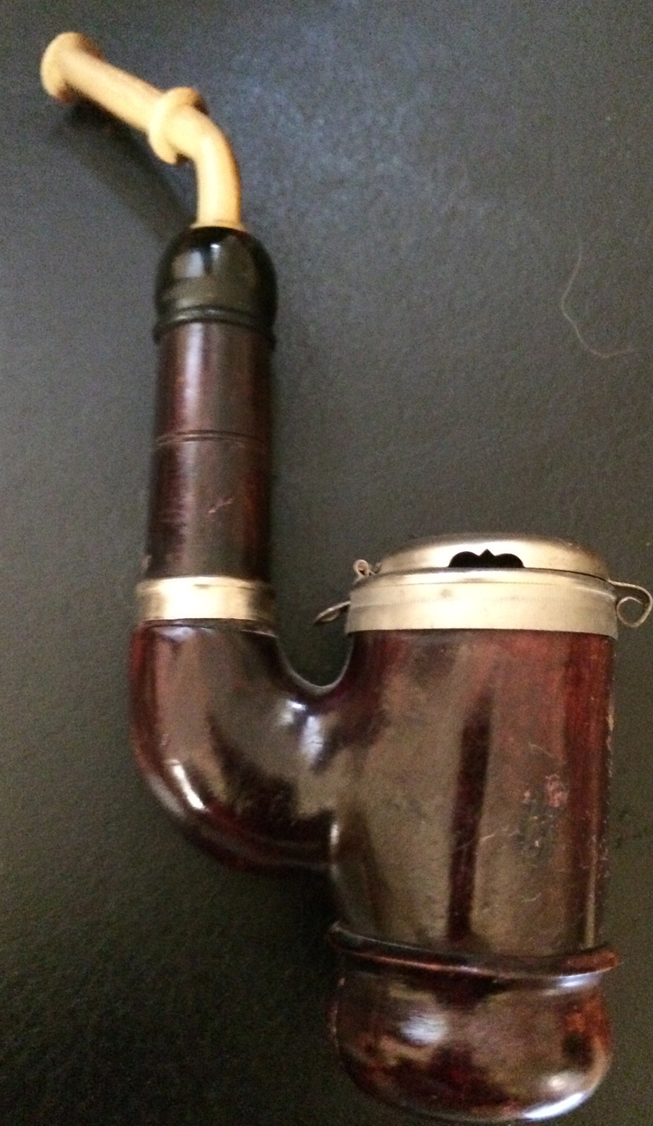 Antique vintage german austrian silver pipe 1904 rare other for What are old plumbing pipes made of