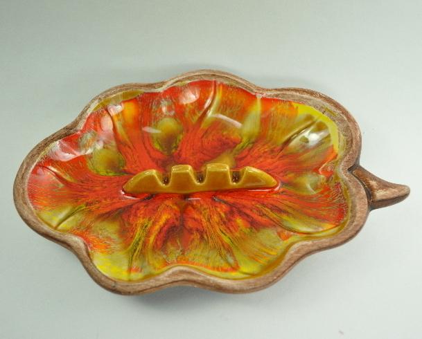 California Pottery Santa Anita Ware Autumn Colors Ashtray
