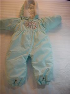 BABY BRIGHT FUTURE WINTER SNOW SUIT 18 MTH MINT GREEN