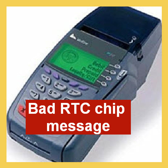 Verifone error TAMPER bad RTC chip fix Vx510 Vx570 Vx610 omni 3730