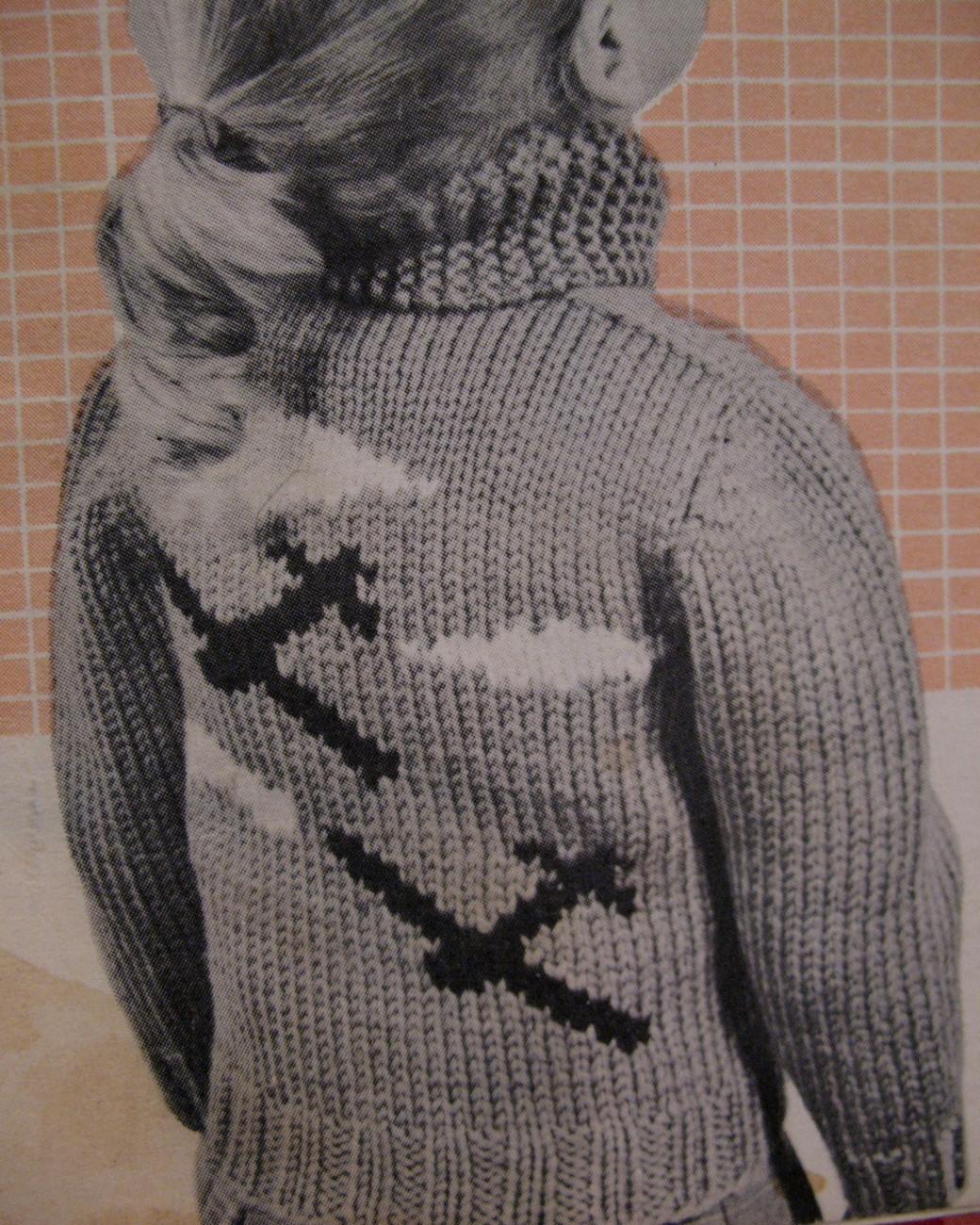 Vintage Airplane Aeroplane Sweater Knitting Pattern ...