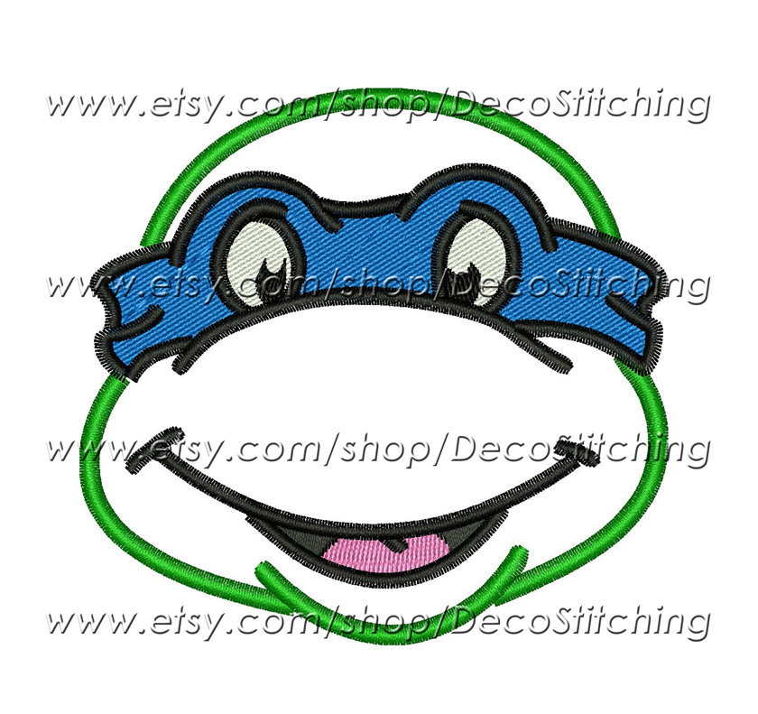 ninja turtle face outline