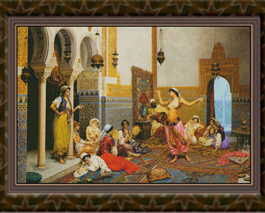 The Harem Dance, Cross Stitch Pattern