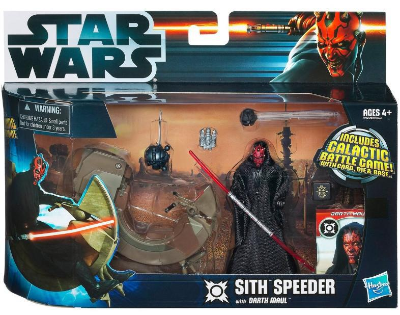 Star Wars Darth Maul with Sith Speeder vehicle action figure set