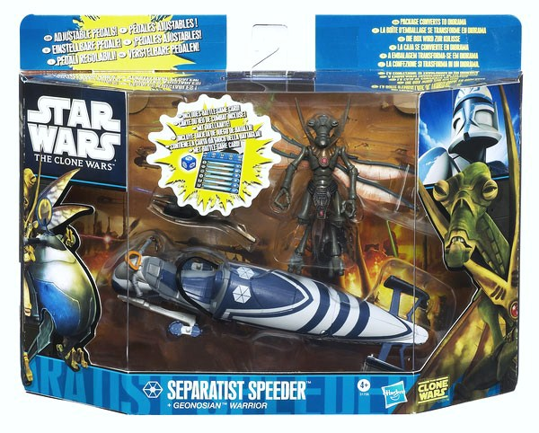 Star Wars Separatist Speeder Geonosian Warrior figure and Vehicle