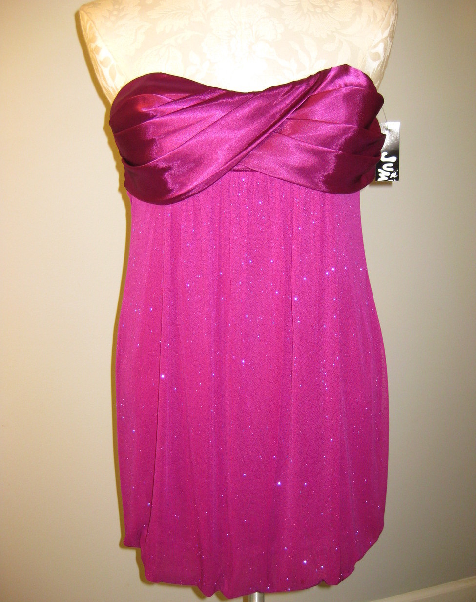 Jump Strapless Glitter Bubble Dress Size 3/4 NWT