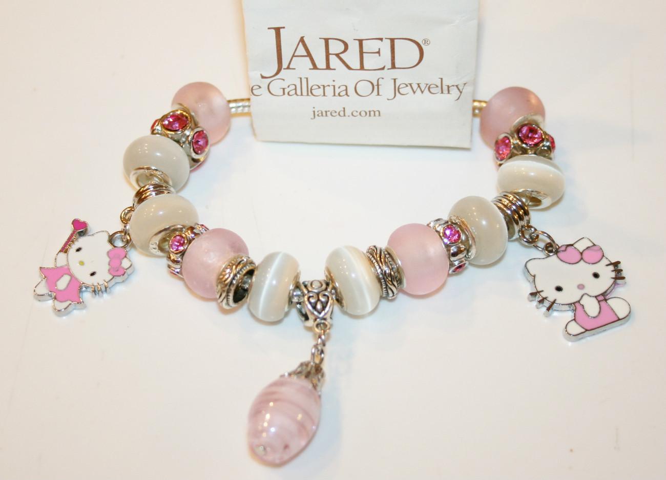 Authentic Jared Pandora Bracelet Hello Kitty Pretty In