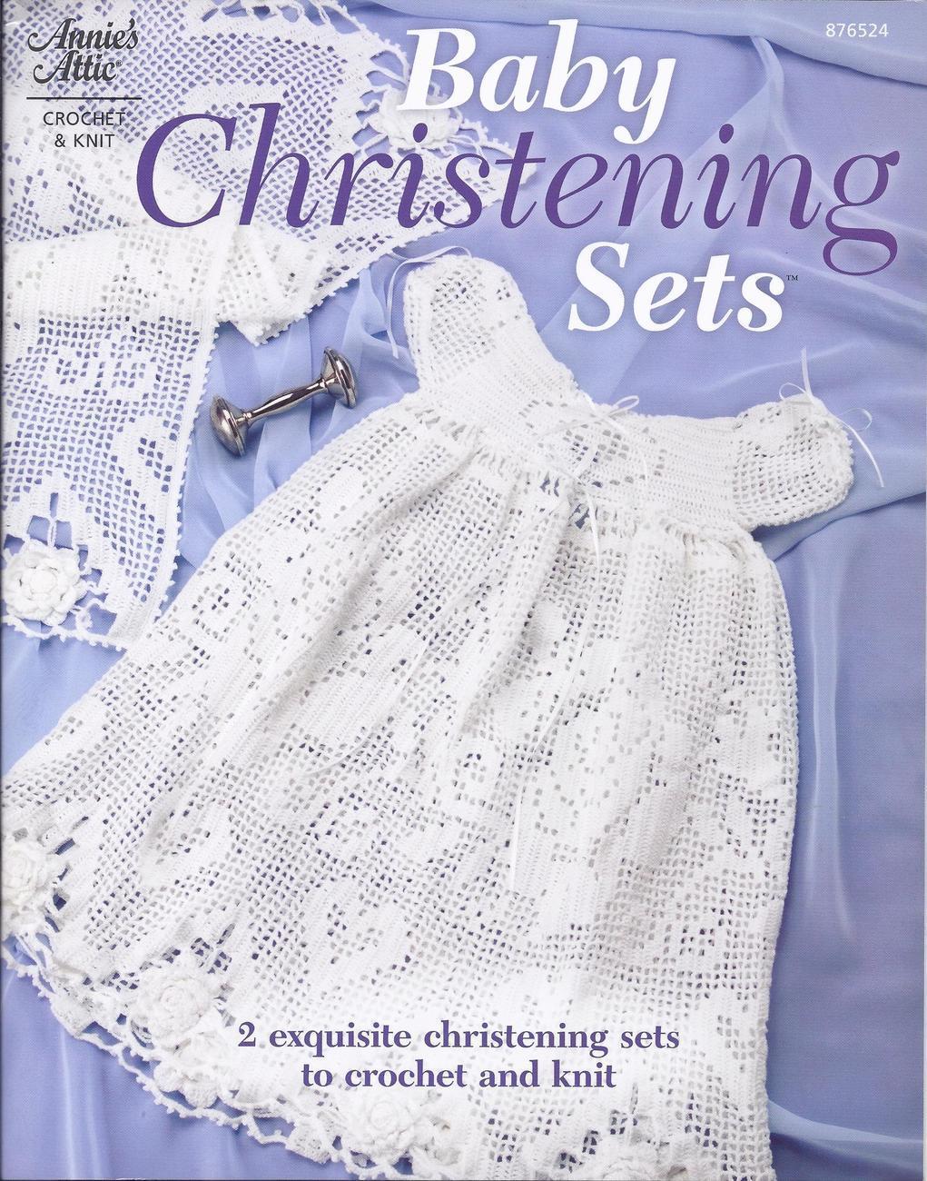 Free Crochet Pattern Leaflets : 2 Exquisite Christening Sets to Crochet & Knit Pattern ...
