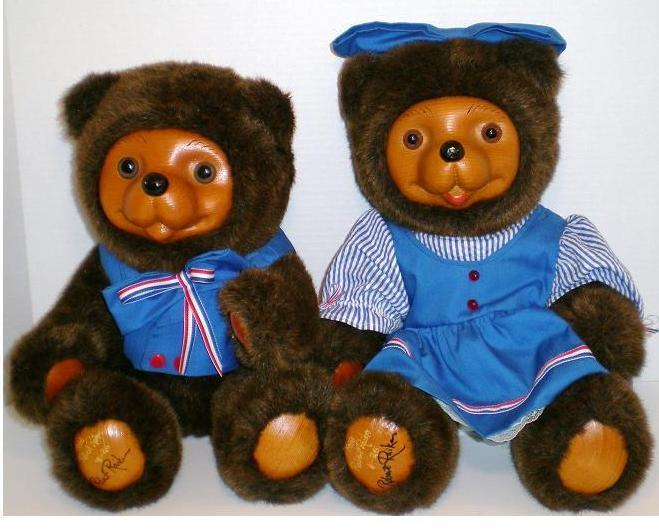 Robert Raikes Originals 1988 Woody Bears Boy and Girl Limited Ed set