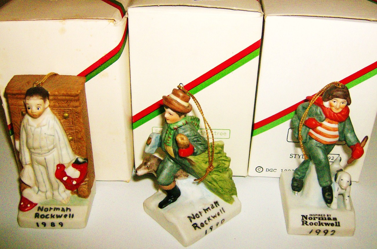 Norman Rockwell Christmas Ornaments By Dave Grossman