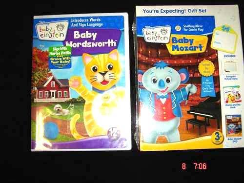 BABY EINSTEIN MOZART 3 PCE GIFT SET BABY WORDSWORTH NEW - DVD, HD DVD