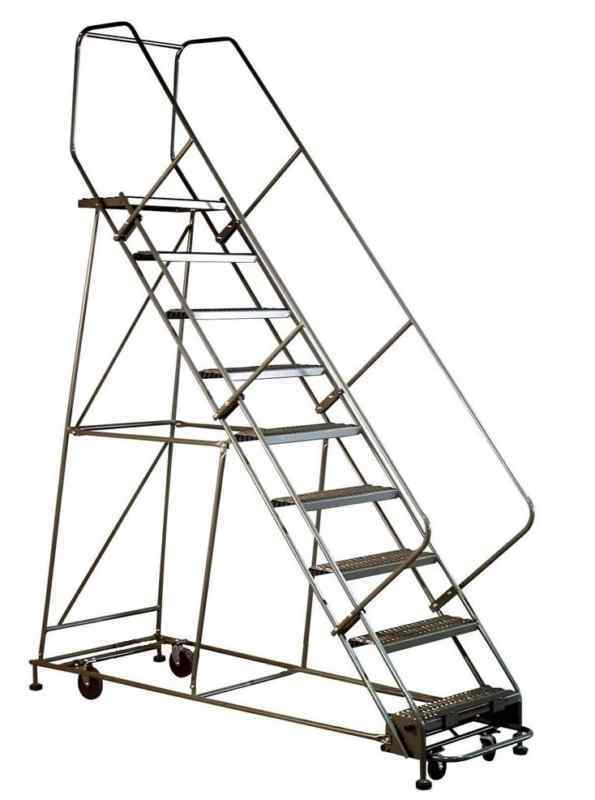 Gillis Rolling Safety Ladder Saf T Steel 2 5 Step Jarke