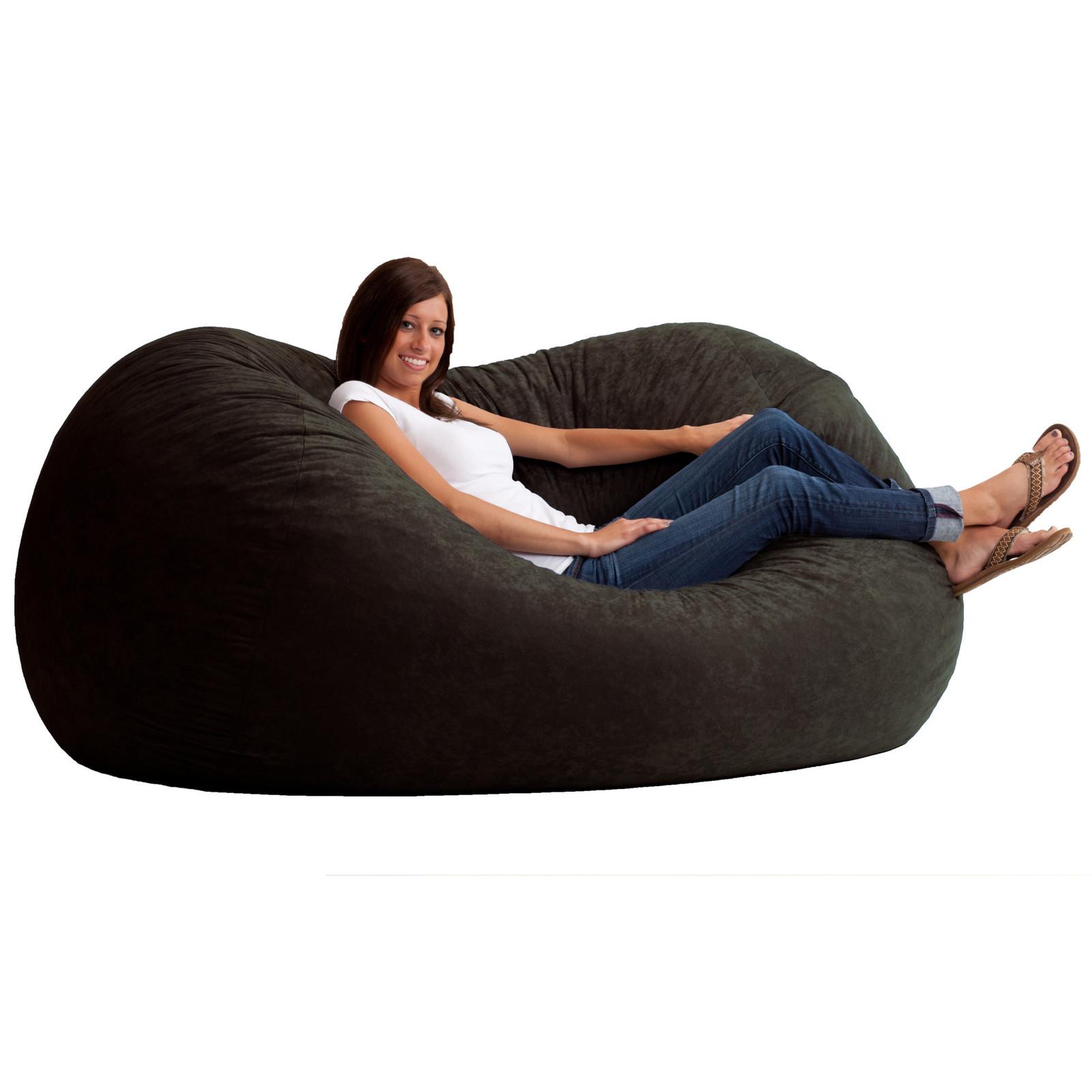Bean Bag Sofa Xl Extra Large Black Furniture Relax Family