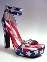 Stars & and Stripes Flag; Red White Blue VHTF RARE Just the Right Shoe Patriotic