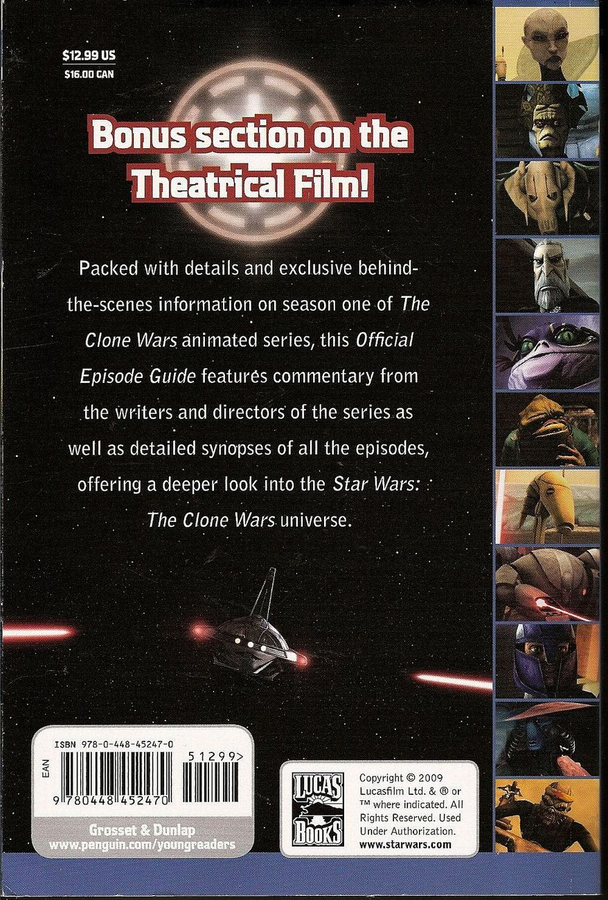 Image 1 of The Official Episode Guide: Season 1 Star Wars: The Clone Wars by Jason Fry 2009