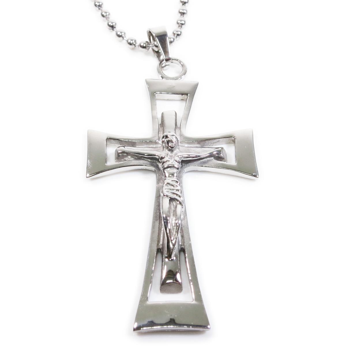 Stainless steel plain jesus cross crucifix pendant